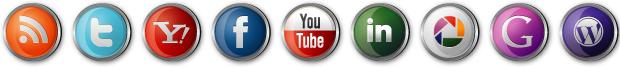 Družabna omrežja: Twitter, Google+, Facebook, YouTube, LinkedIn, RSS